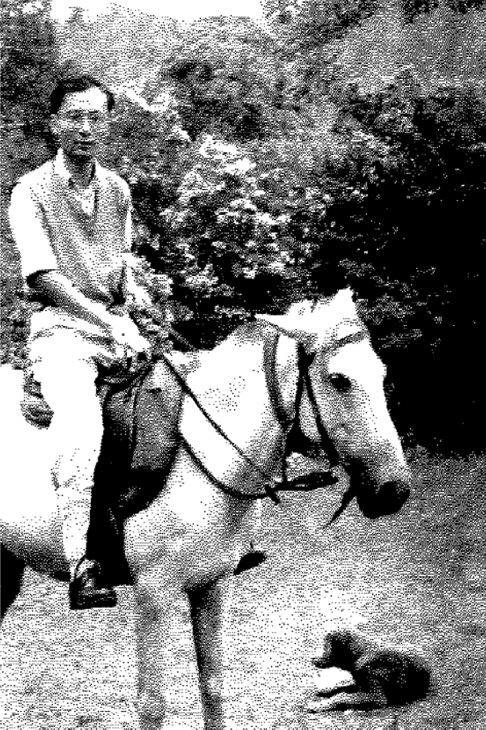 Hsü in Musoorie, India, during the summer of 1950.