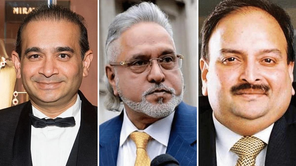 The Enforcement Directorate said it has handed over assets worth Rs 9,371 crore belonging to fugitive businessmen (L-R) Nirav Modi, Vijay Mallya, and Mehul Choksi to state-run banks.