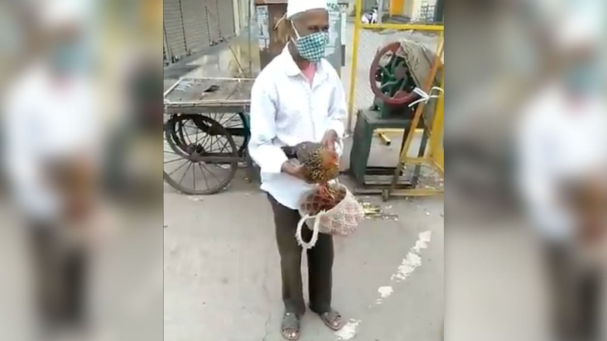 """<div class=""""paragraphs""""><p>This Man's Excuse for Violating Lockdown Is His Constipated Hen!</p></div>"""