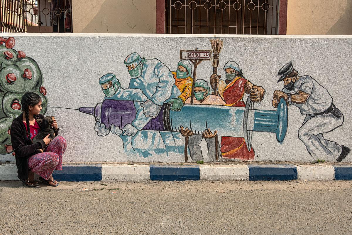 Graffiti in Tollygunge.