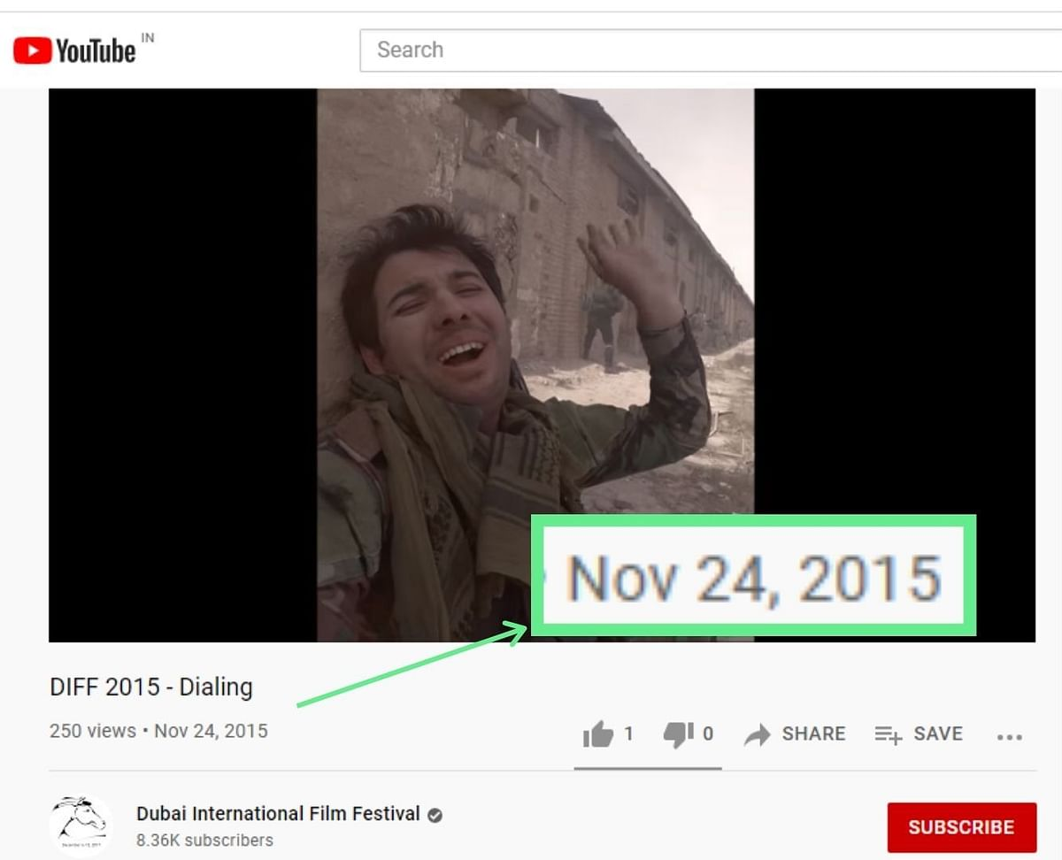 """<div class=""""paragraphs""""><p>The video was uploaded to Dubai International Film Festival's channel in 2015.</p></div>"""