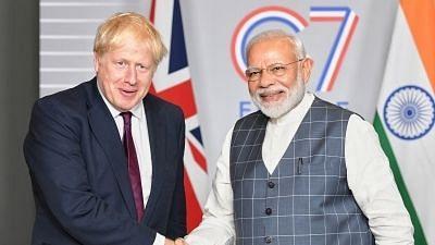 Boris Johnson and PM Modi. Image for representational purposes.