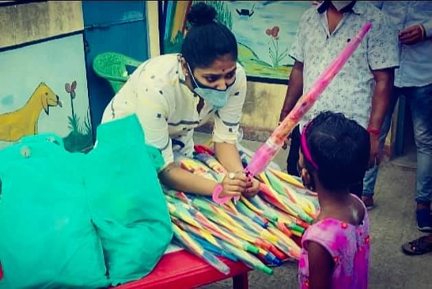 She went back to Asansol and got involved with COVID relief work