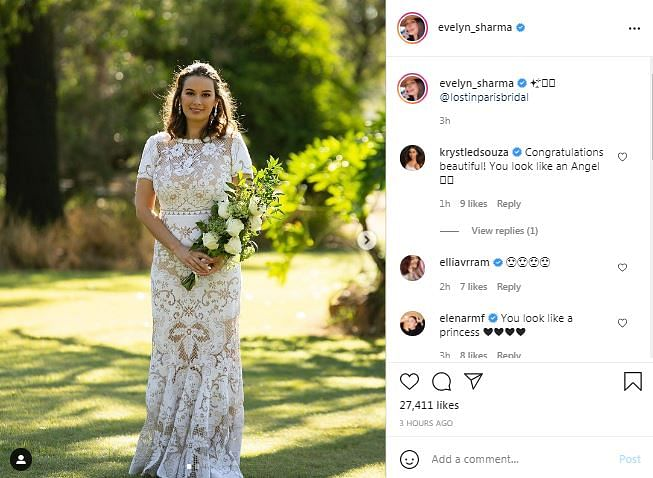 Evelyn Sharma Shares Pics from Wedding with Dr Tushaan Bhindi