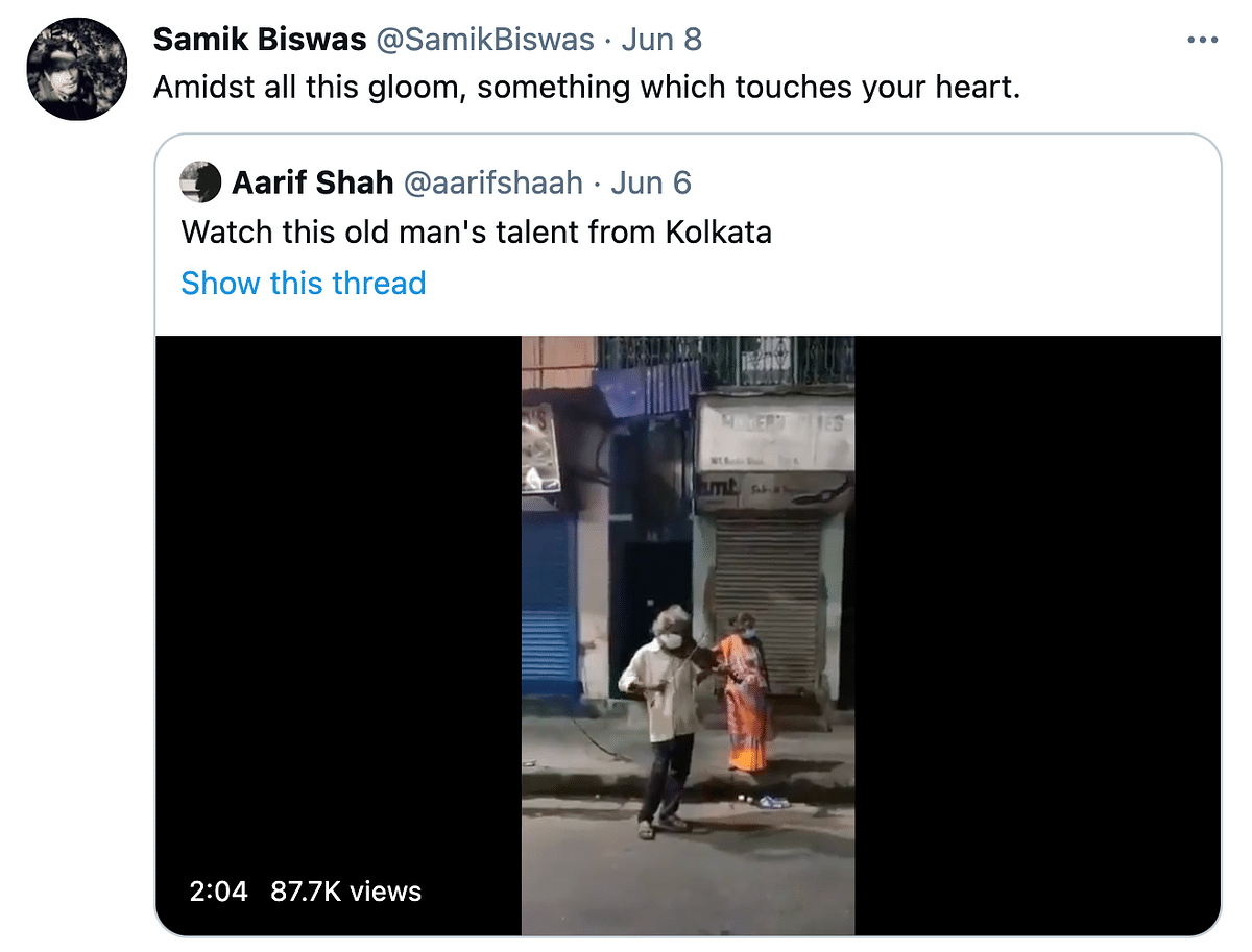 Twitter Is Moved by This Old Man Playing the Violin in Kolkata