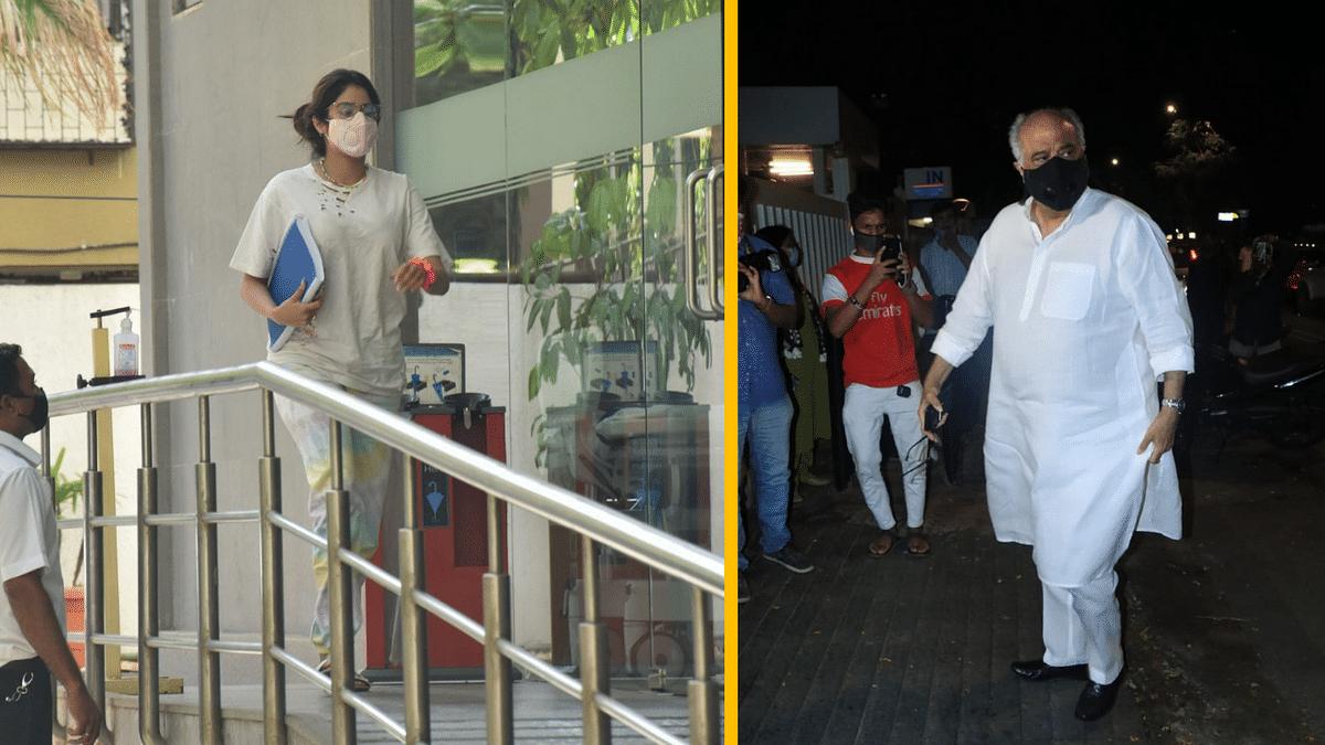 "<div class=""paragraphs""><p>Janhvi Kapoor and Boney Kapoor spotted outside the hospital.&nbsp;</p></div>"
