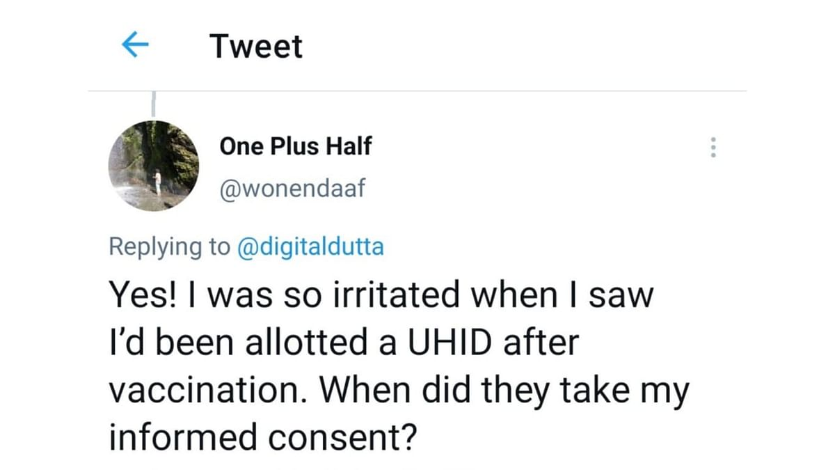 """<div class=""""paragraphs""""><p>A twitter user alleged that UHID was appointed to him without his consent.</p></div>"""