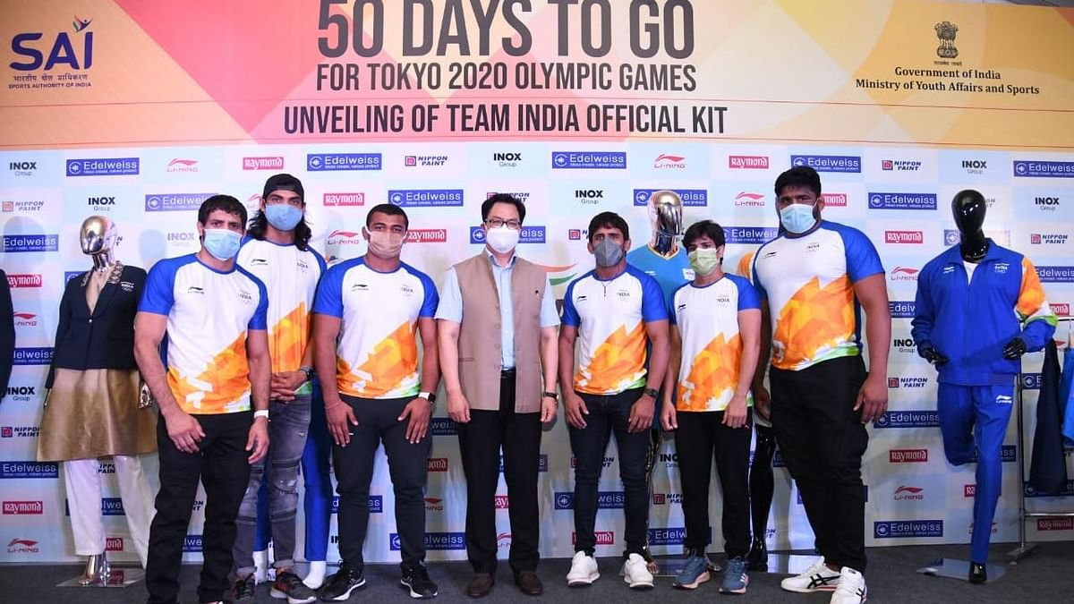 The fresh set of kits was unveiled by sports minister Kiren Rijiju in Delhi.
