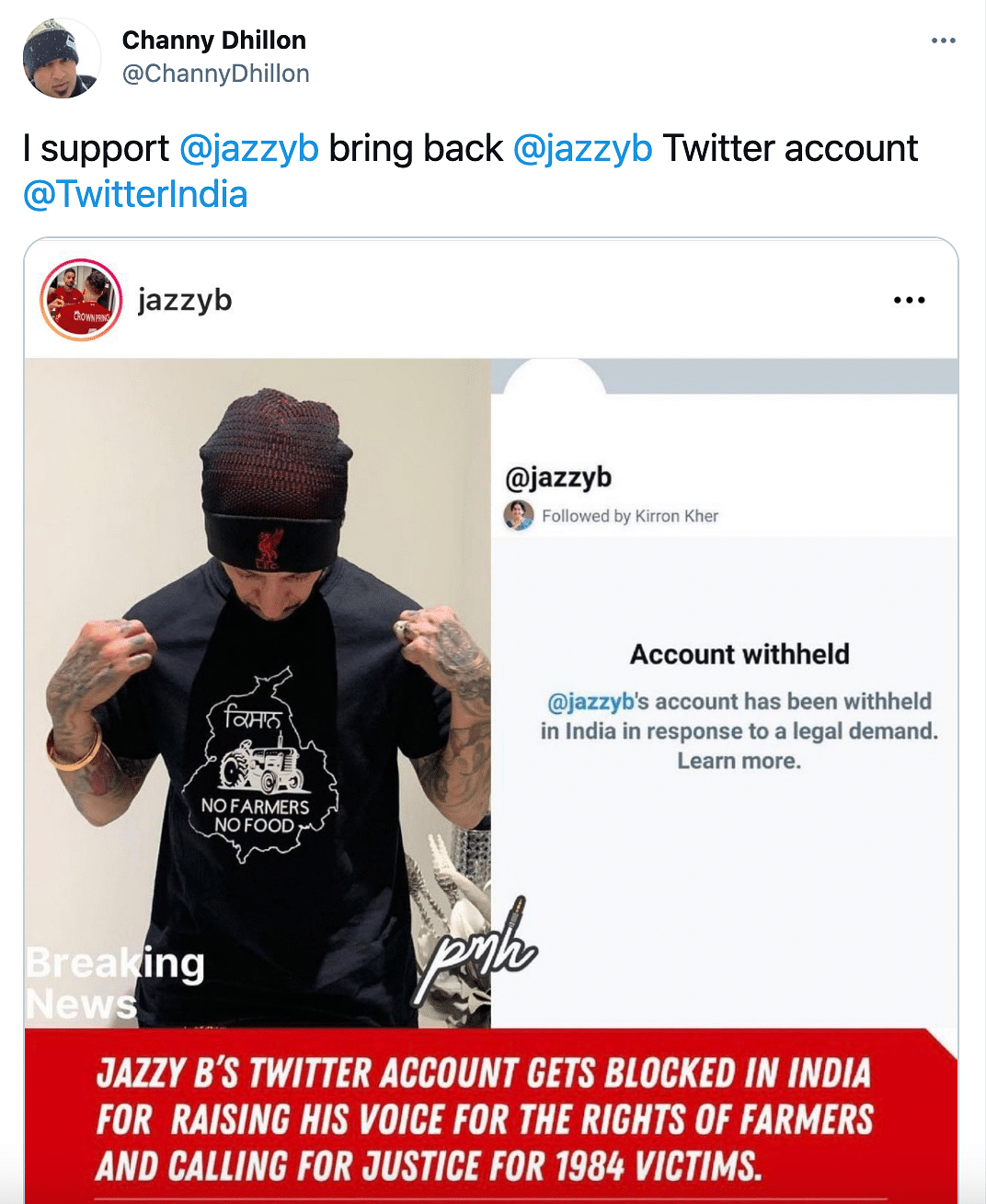 Support Pours in for Jazzy B as Twitter Withholds His Account
