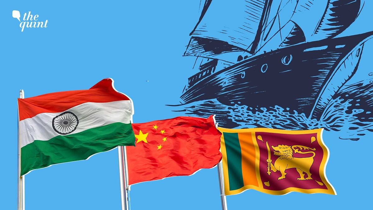 Image of Indian flag (L), Chinese flag (Centre) and Sri Lankan flag (R) used for representational purposes.