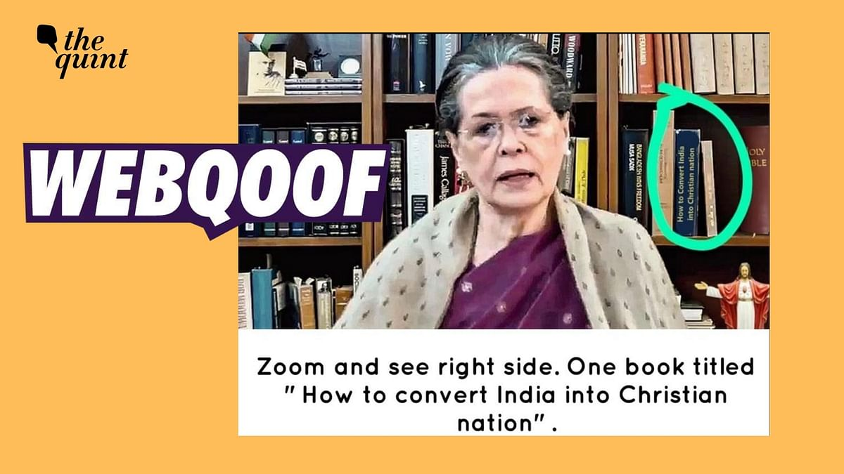 Book on 'Conversion' on Sonia Gandhi's Shelf? It's an Edited Pic