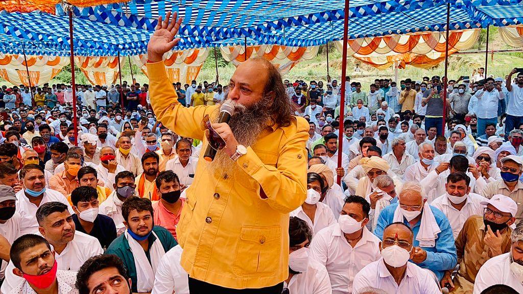 "<div class=""paragraphs""><p>Karni Sena Chief Amu addressing a mahapanchayat at Haryana's Indri.</p></div>"