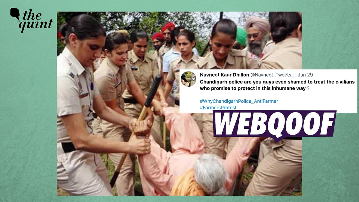 Old Image Shared as Chandigarh Police Using Force Against Farmers