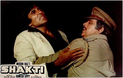 """<div class=""""paragraphs""""><p>Amitabh and Dilip in 'Shakti'.</p></div>"""