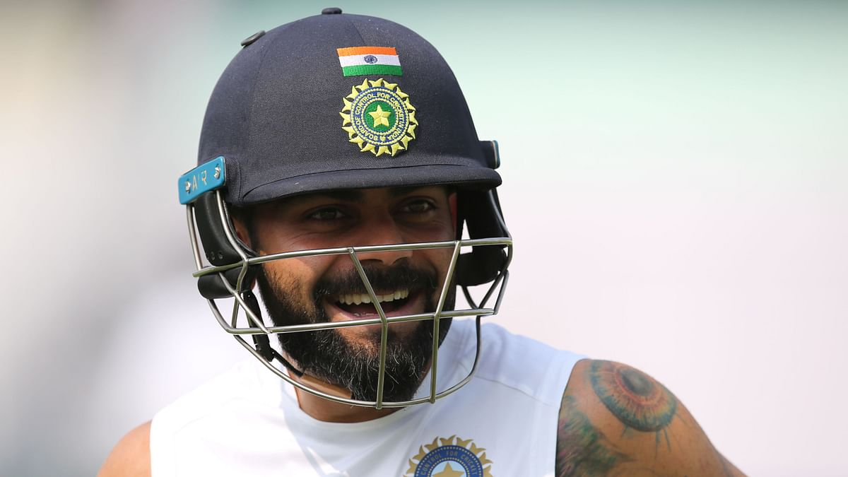 Virat Kohli had a grueling hit out in the nets.