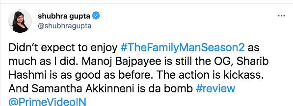 Manoj Bajpayee, Samantha's 'Family Man 2' Gets High Praise Online