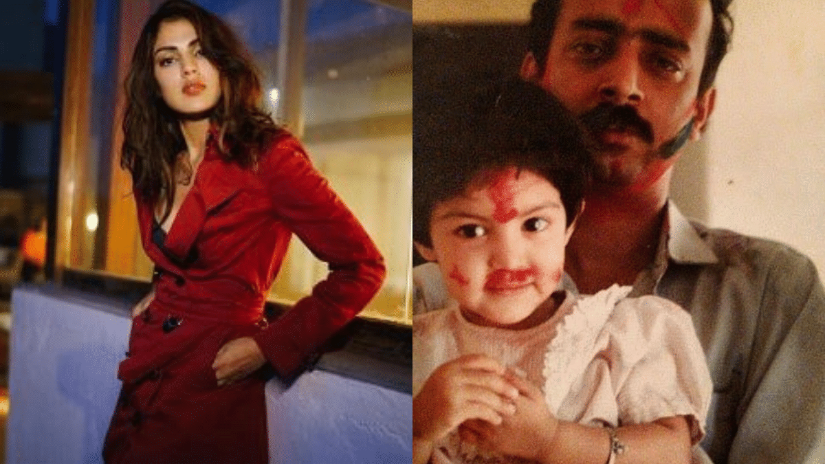 """<div class=""""paragraphs""""><p>Rhea Chakraborty shared a throwback picture with her father on Father's Day.&nbsp;</p></div>"""