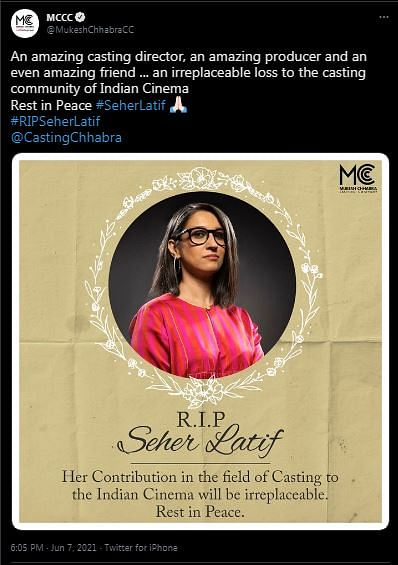Gone Too Soon: B'wood Mourns Demise of Producer Seher Aly Latif