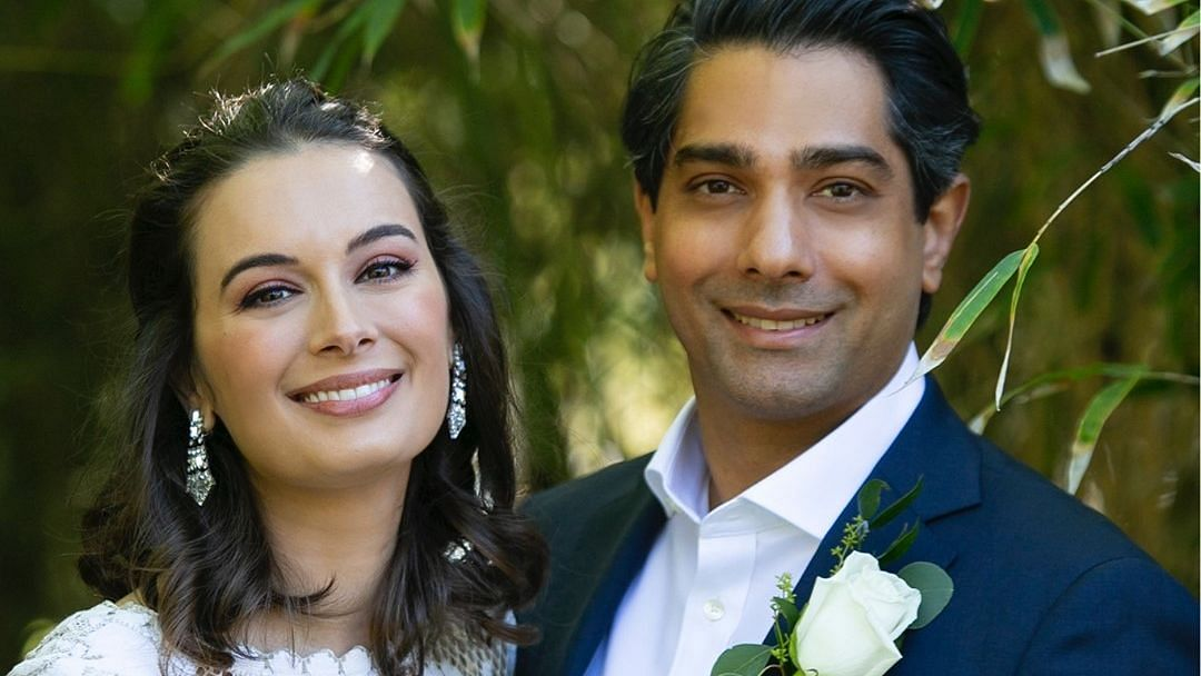 """<div class=""""paragraphs""""><p>Actor Evelyn Sharma marries Dr Tushaan Bhindi</p></div>"""