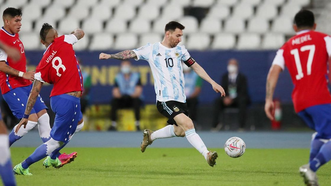 Argentina's Lionel Messi Scores Stunner But Chile Eke Out 1-1 Draw