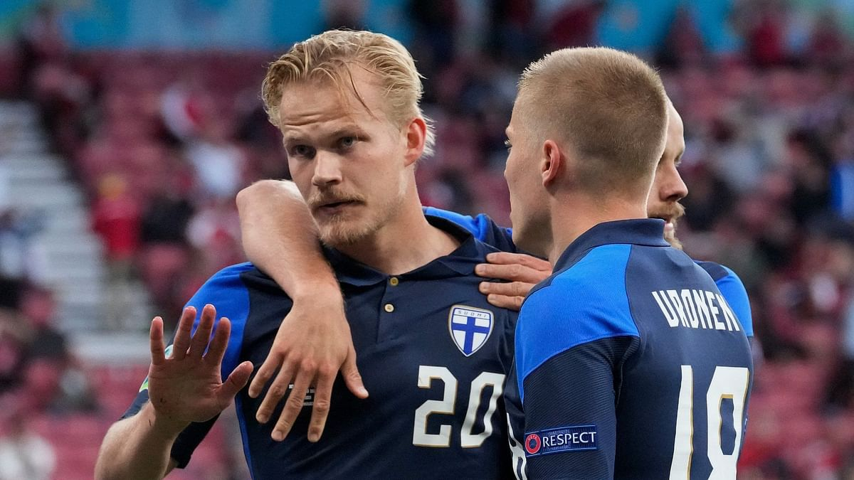 Joel Pohjanpalo scored the only goal of the game between Finland and Denmark.