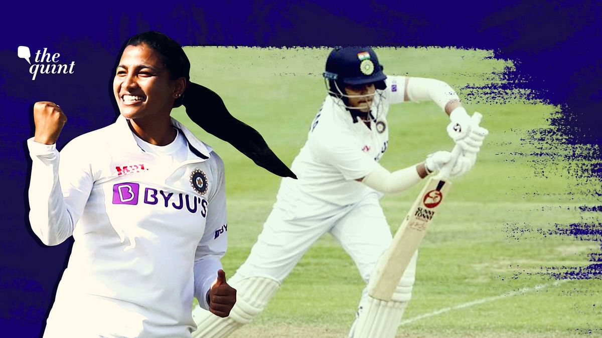 """<div class=""""paragraphs""""><p>Sneh Rana and Shafali Verma were among the debutantes for India in the Test at Bristol against England.&nbsp;</p></div>"""