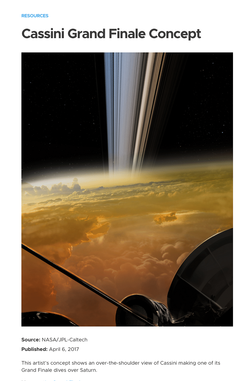 Concept Image Passed off as Pic of Saturn Rings by NASA's Cassini
