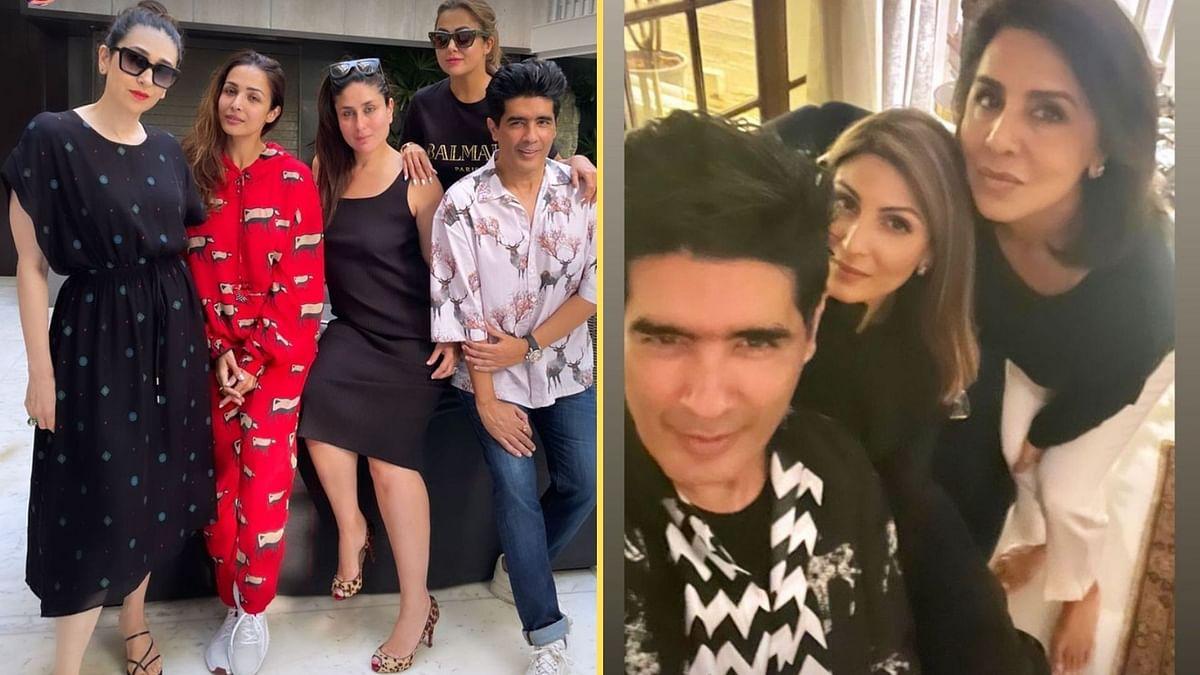 Pics: Kareena, Malaika, Neetu Kapoor Party With Manish Malhotra