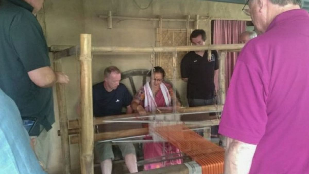 Assam Woman Turns Plastic Waste Into Traditional Handloom Products