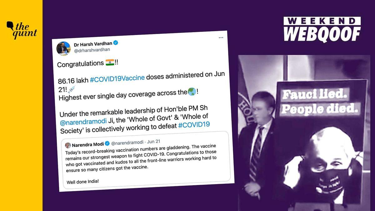 WebQoof Recap: Of Highest COVID Vaccination in India & More