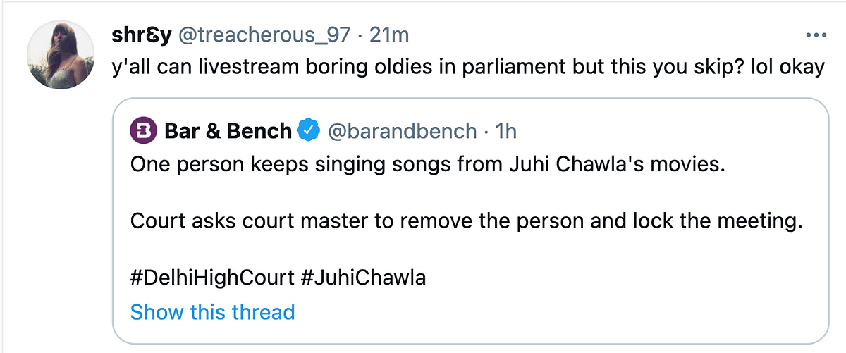 This Man Singing in Juhi Chawla's 5G Hearing Has Twitter in Splits