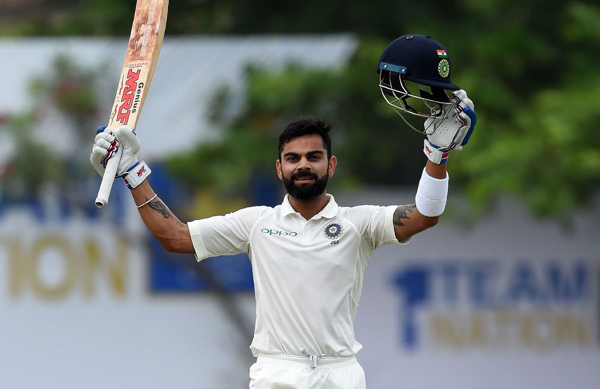 Virat Kohli blunted spin to attain a fabulous ton in Galle.