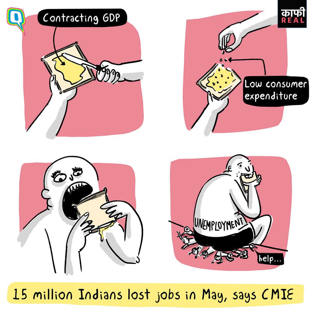"""Mahesh Vyas said that the job losses were """"largely because the economy simply could not provide employment to large numbers who sought work."""""""