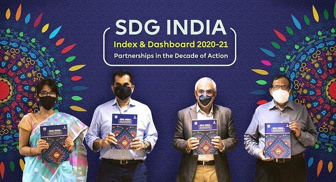 """<div class=""""paragraphs""""><p>NITI Aayog's SDG Index 2020-21.</p></div>"""
