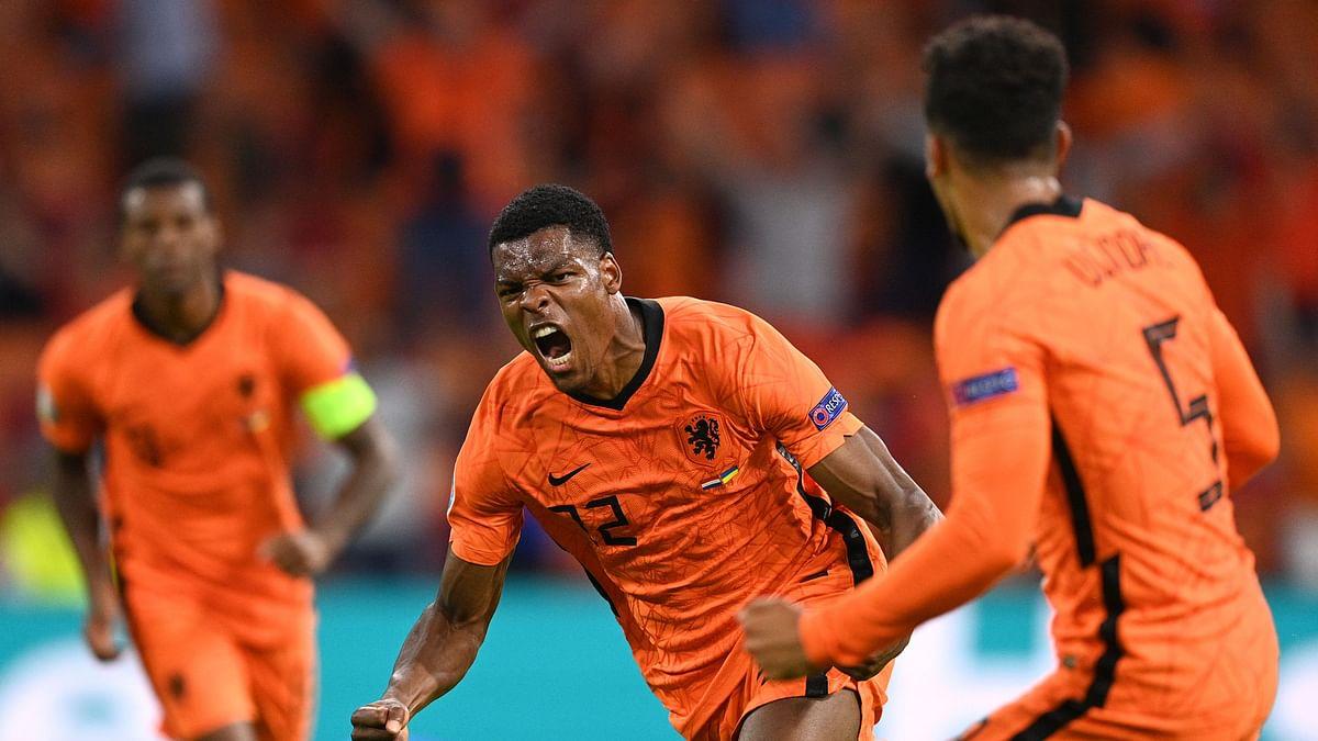 Dumfries Helps Netherlands Edge Out Ukraine in 5-Goal Thriller