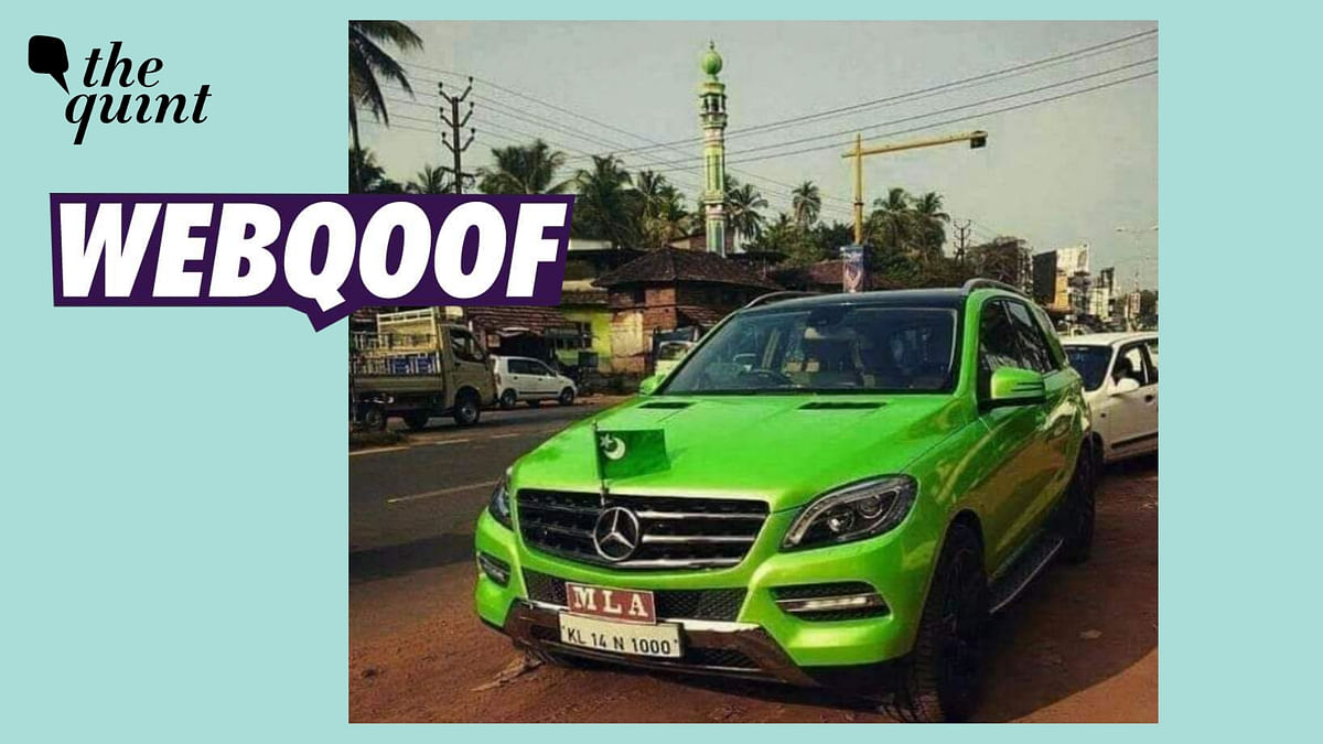 No, That's Not Pakistan's Flag on Kerala MLA's Car