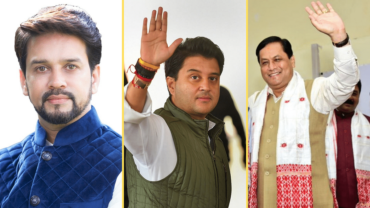 Scindia, Sonowal Take Oath as Ministers as PM Modi Reshuffles Cabinet