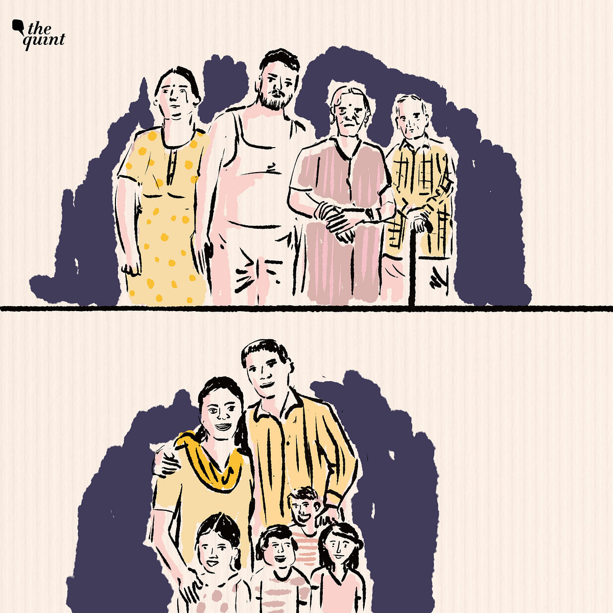 """<div class=""""paragraphs""""><p>Above is Mayank and his family, his 70-year-old father who suffers from Polio, his 62-year-old mother who has knee issues and his 39-year-old wife Rajni.&nbsp;</p><p>Below is 41-year-old Santosh and his wife Sunita, and his kids. Three girls and a boy.&nbsp;</p></div>"""