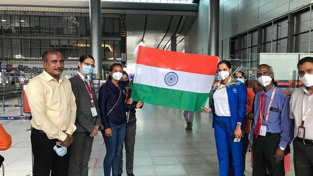 "<div class=""paragraphs""><p>Sania Mirza and Ankita Raina depart for the Tokyo Olympics.</p></div>"