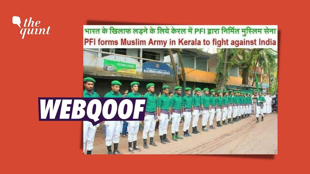 Image Showing IUML Cadre Viral As 'Muslim Army Built by PFI'