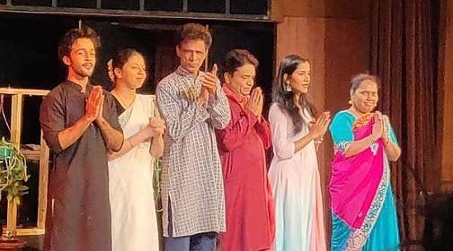 "<div class=""paragraphs""><p>Zahan Kapoor after a performance of 'Pitaji Please'</p></div>"