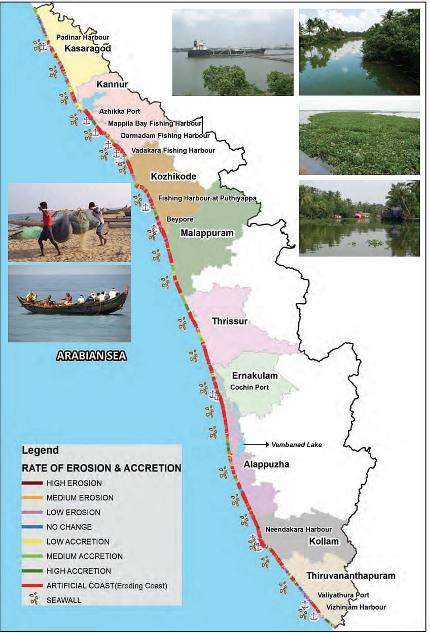 """<div class=""""paragraphs""""><p>More than 65 percent of the coastline in Kerala is eroded and 25 percent facing accretion.</p></div>"""