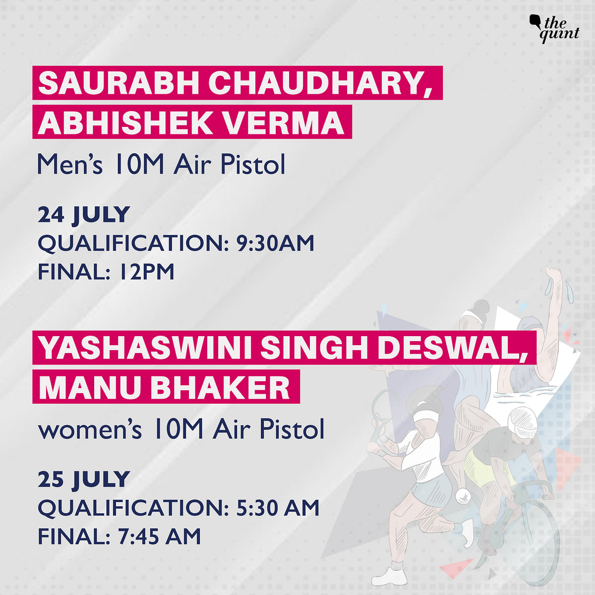 Full Schedule of Indian Athletes at 2020 Tokyo Olympics