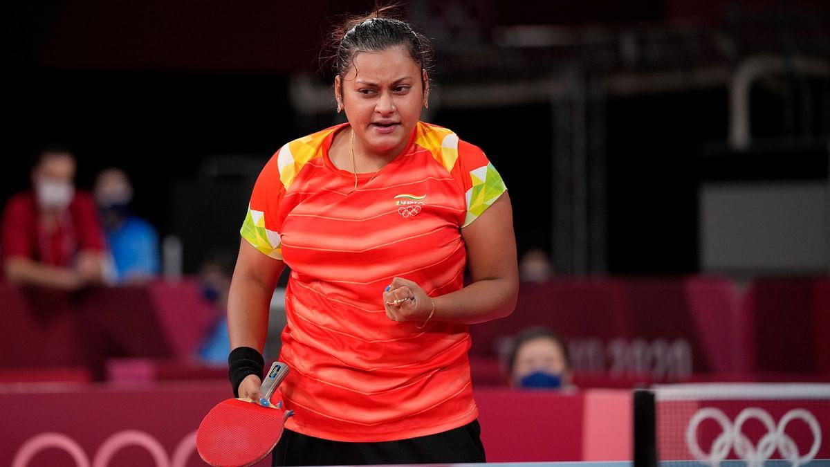 """<div class=""""paragraphs""""><p>Tokyo Olympics: Sutirtha Mukherjee after winning her&nbsp; first match.&nbsp;</p></div>"""