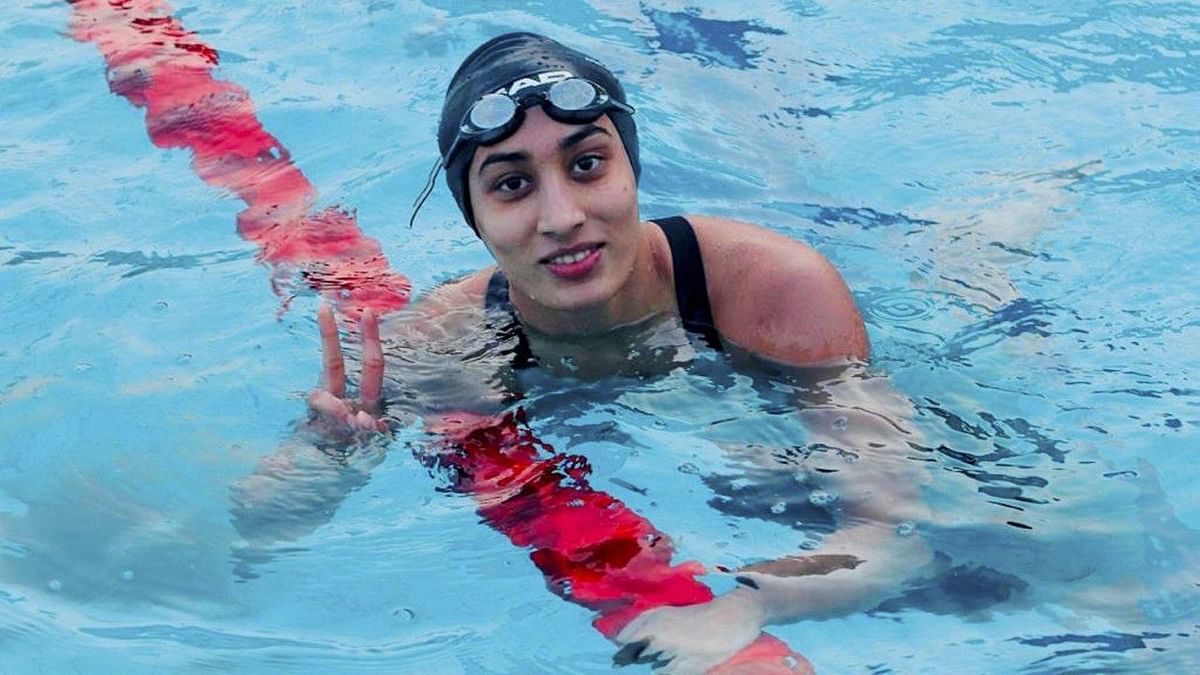 """<div class=""""paragraphs""""><p>Backstroke swimmer Maana Patel, who becomes the 1st female and 3rd Indian swimmer to qualify for Tokyo Olympics.</p></div>"""