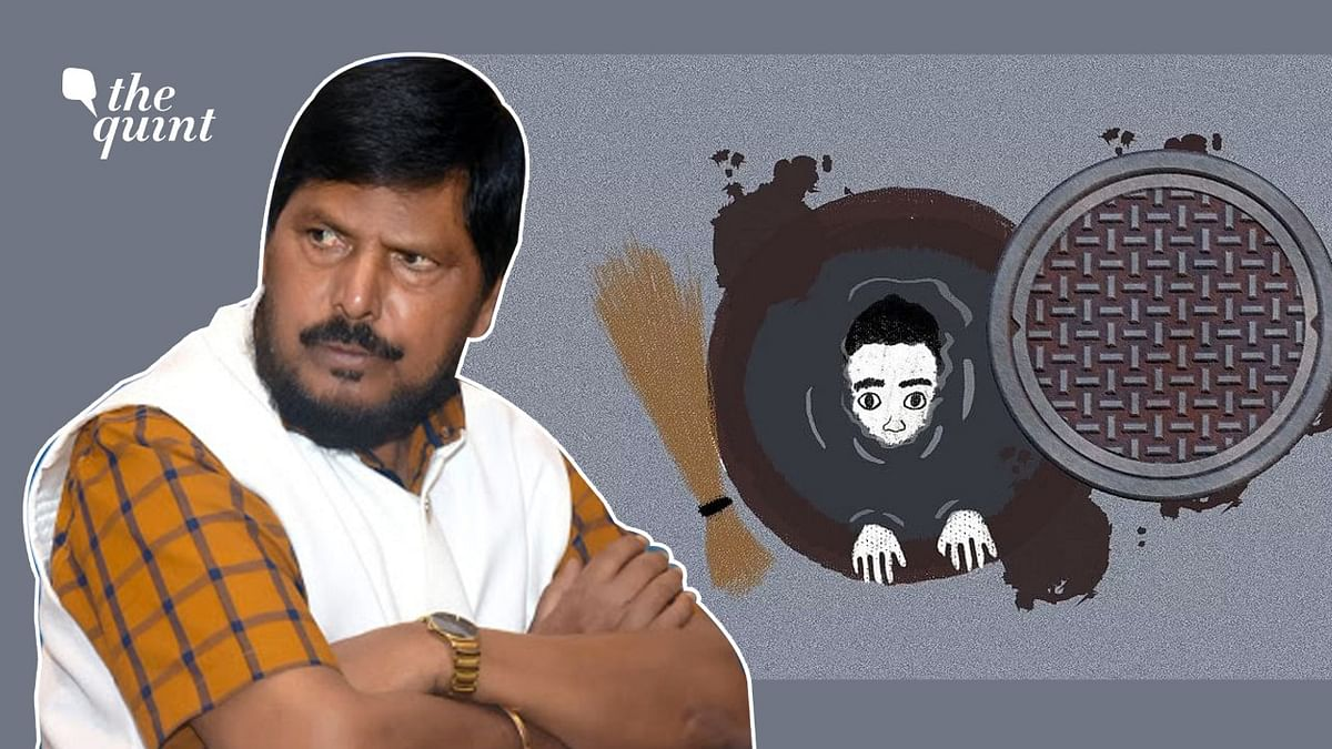 """<div class=""""paragraphs""""><p>Athawale said that no deaths related to manual scavenging were reported in the past five years.</p></div>"""