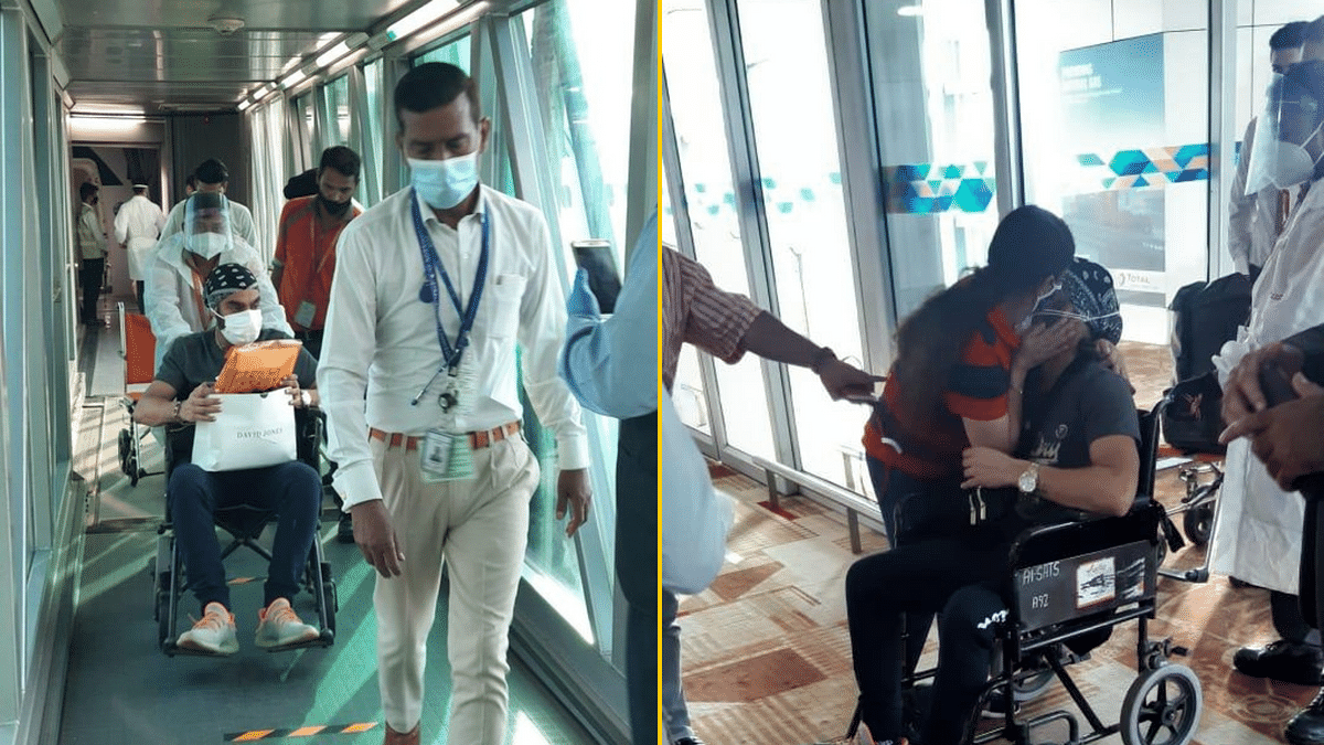 "<div class=""paragraphs""><p>Arshdeep Singh arrived at Delhi airport on Monday.</p></div>"