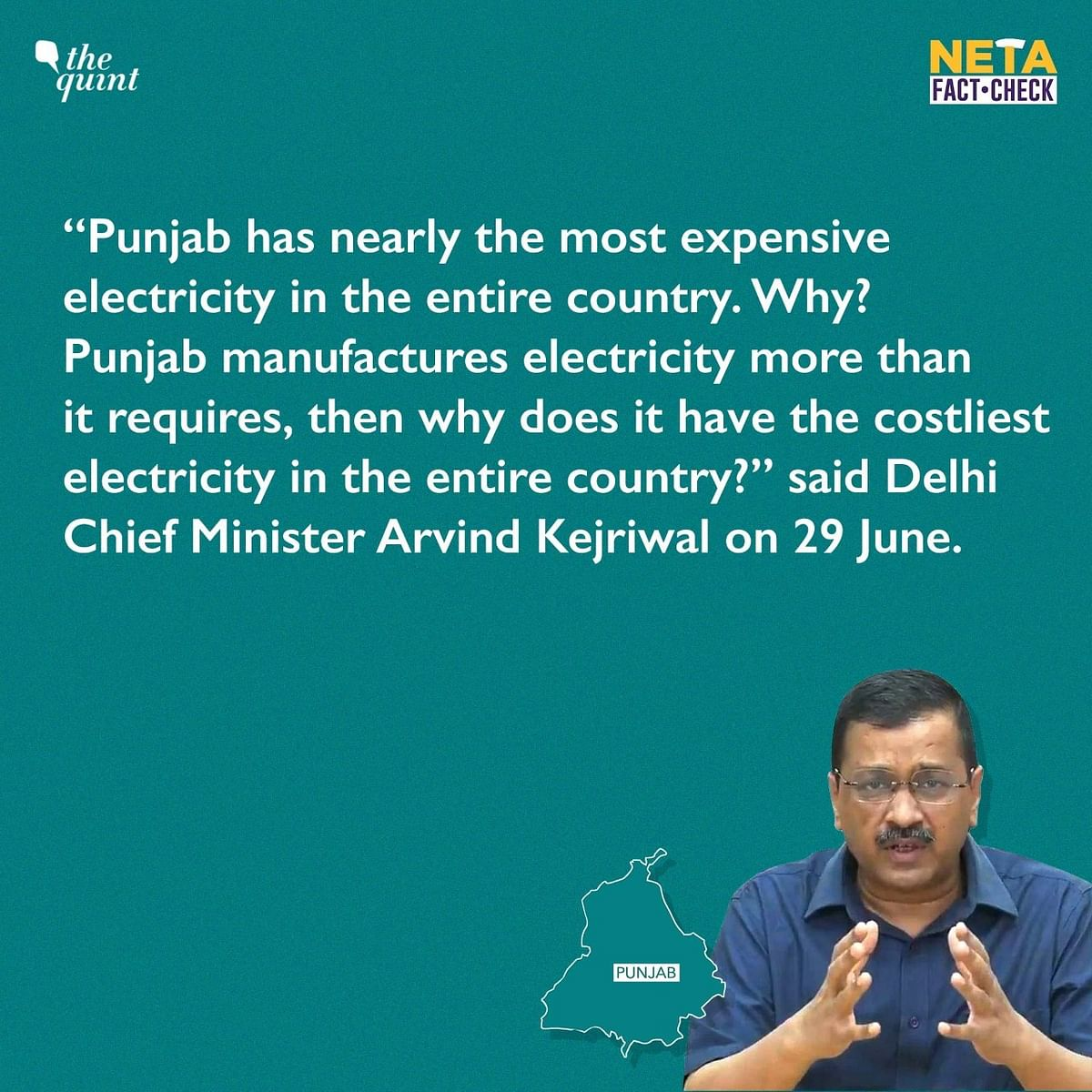 """<div class=""""paragraphs""""><p>Delhi CM Arvind Kejriwal claimed that electricity is the 'most expensive' in Punjab.</p></div>"""