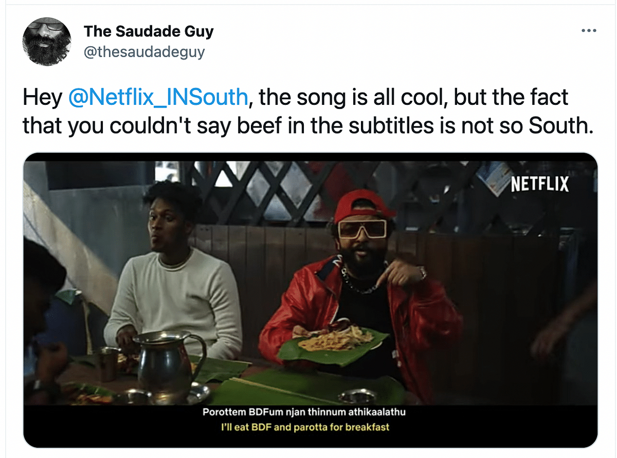 Namma Stories: Netflix Leaves Out Beef in Subtitles; Twitter Reacts