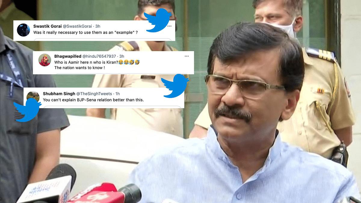 Shiv Sena-BJP Are Like Aamir Khan-Kiran Rao: Netizens React to Raut's Statement